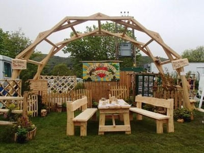 Da Vinci arch made for our stand at Malvern in 2015