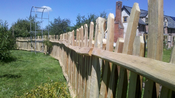 This cleft fence is keeping chickens and the vegetable garden apart
