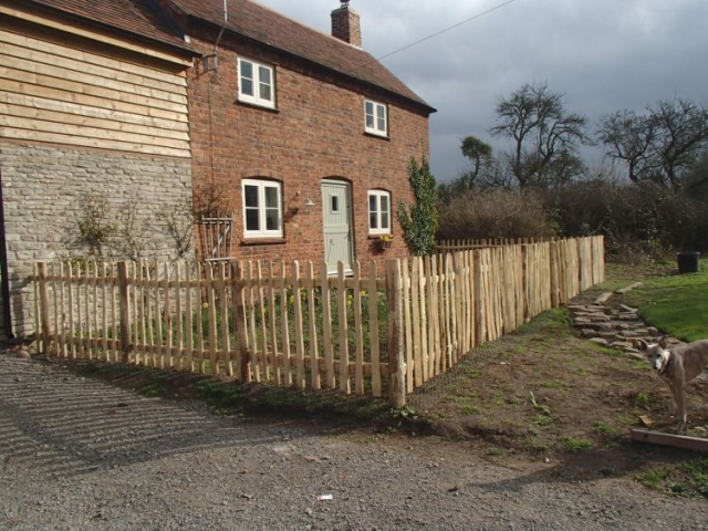 Cleft Chestnut picket fence