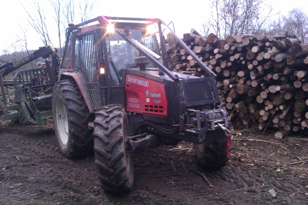Our Valmet 6600 forestry tractor