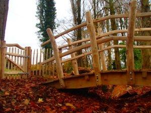 Cleft and sawn Chestnut bridge