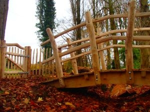 Cleft and sawn Chestnut bridge