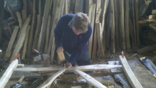 Making a cleft Chestnut Avenbury gate