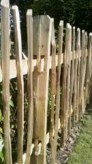 Cleft Chestnut picket fence, on a mortised frame