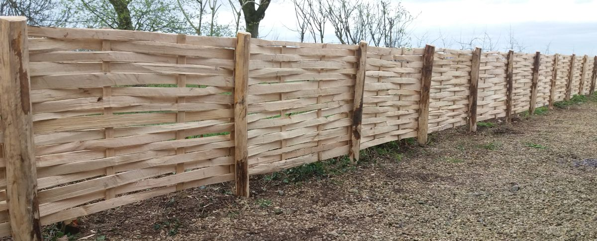 Cleft Chestnut lath fencing panels