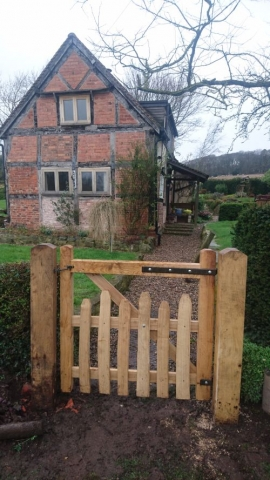 Rustic Sawn Oak and Cleft Chest West Midlands gate