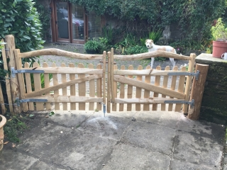 Pair of Harvest gates with a bespoke wooden latch