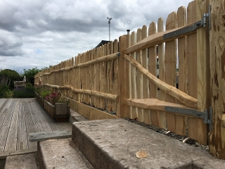 Cleft Chestnut fencing and Harvest gate