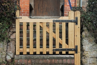 Sawn Church gate with re-furbished hinges