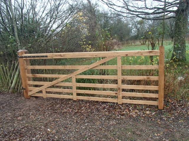 Bespoke sawn Oak driveway gate