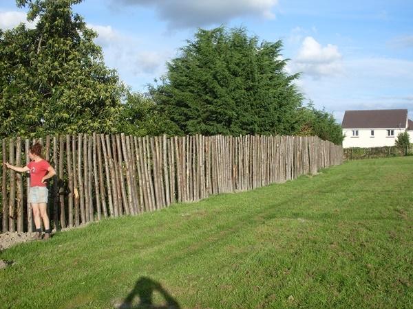 Bespoke cleft Chestnut fence