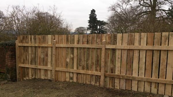 Bespoke sawn Chestnut fence