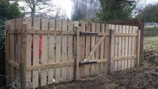 Bespoke sawn Chestnut fence and gate