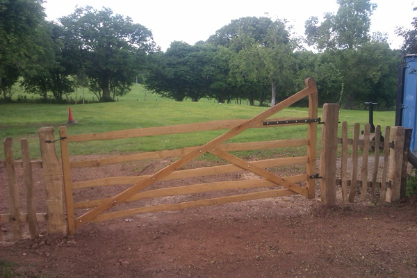 Rustic Cleft Chestnut Shropshire gate