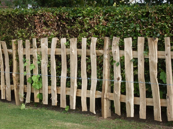 Cleft Chestnut mortise framed fencing with wide pickets