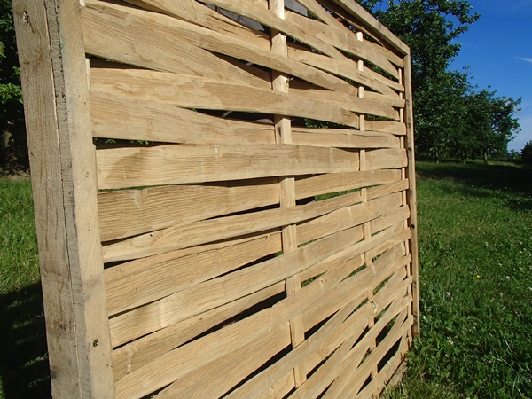 Cleft Chestnut framed lath panel