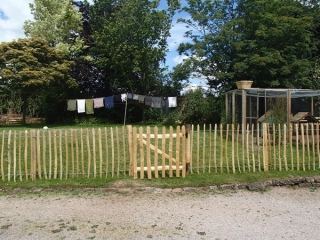 Cleft Chestnut paling with wicket gate