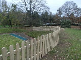 Sawn Chestnut picket fence