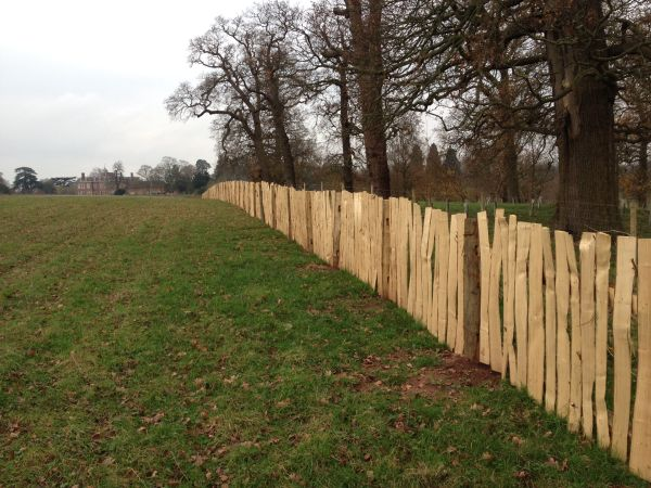 Agricultural grade cleft Chestnut post and rail with wide pales