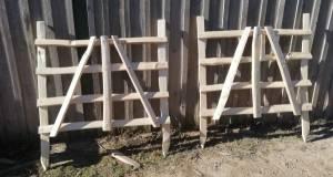 Rustic cleft Chestnut nail framed hurdles
